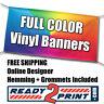 3' x 10' Full Color Custom Printed Banner, 13oz Vinyl - FREE SHIPPING