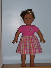 Pretty Pink Dress with flower For American Girl Dolls