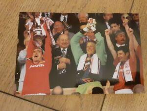 6x4 Eric Cantona Peter Schmichael Dennis Irwin Manchester United FA CUPl Photo