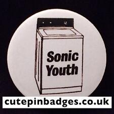 "Sonic Youth Badge (25mm/1"") Pin Button Washing Machine Grunge Punk Indie Rock"