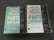 1998 Ford F150 F250 F350 F450 Truck Parts & Illustrations Catalog Manual Set