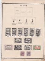 ethiopia early mounted mint stamps on album page   ref r9103
