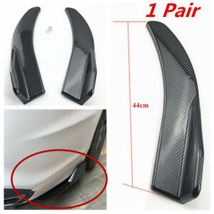 1 Pair 44CM Car Rear Bumper Body Side Skirt Diffuser Spoiler Rear Lip Angle