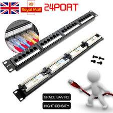 More details for 24-port cat6a shielded rj45 data patch panel 19-inch wallmount rackmount frame