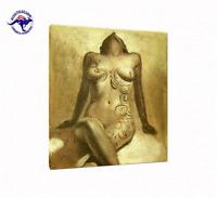 Nude Art Oil Painting on Canvas - Tattood Naked Girl - Framed  Unframed