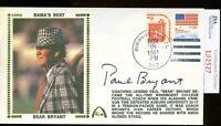 Paul Bear Bryant Jsa Authenticated Signed 1981 Fdc Autograph