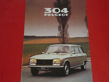 PEUGEOT 304 BREAK GL SL GLD prospetto francese di 1980
