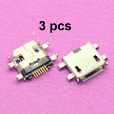 Micro USB Jack Connector Female 7Pin long pins with Edge Crul Charging Socket