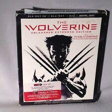 BLU-RAY The Wolverine 4 DISCS (BLURAY 3D/BLURAY/DVD/DIGITAL) COMPLETE MINT