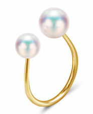 Yellow Gold Natural Pearl Fine Rings