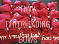 15 SQUAD CHEERLEADING CHEER HAIR BOW FREE PERSONALISATION 17 COLOURS AVAILABLE