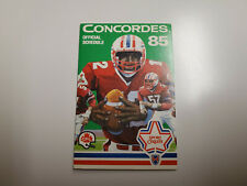 Rs20 Montreal Concordes 1985 Cfl Football Pocket Schedule (English) - O'Keefe
