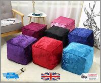 Crush Velvet Bean Bag Cube Footstools Foot Rest Stool Pouffe Ottoman Living Room