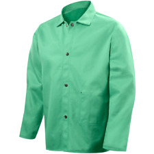 Small Steiner 30 Welding Safety Jacket Green 12oz Fire Resistant Cotton 1038 S