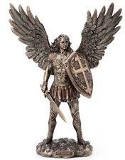 "11"" Archangel Saint MIchael Statue MIguel Arcangel Angel Sword and Shield"