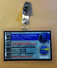 Star Trek Enterprise Id Badge-Nx 01 Enterprise Captain prop costume cosplay