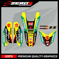 SUZUKI RM RMZ 85 125 250 450 MOTOCROSS GRAPHICS MX GRAPHICS TRIM KIT FACTORY