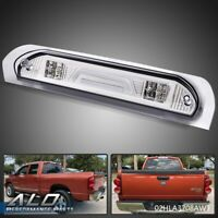 FOR 2002-2009 DODGE RAM 3D LED BAR 3RD TAIL THIRD BRAKE LIGHT CARGO LAMP CHROME