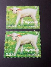 FRANCE, 2006, VARIETE COULEURS timbre 3900, AGNEAU, neuf**, VF MNH STAMP