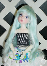 """Doll Wig, Monique Gold Adorabel """"Pixie"""" Size 7/8 in Blue (with bangs)"""