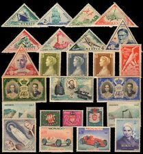 MONACO 25 All Different Old Thematic Mostly Large Mint Postage Genuine Stamps