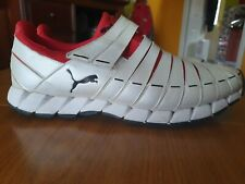 Puma Sport Stripes Men  White Red Lifestyle Sneakers Trainers Rare UK 11/USA 12