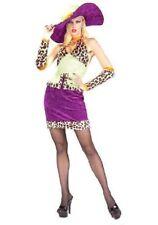 Ladies 70's Pimps And Ho's Big Mama Pimp Fancy Dress Costume Size Medium 10-14