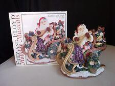 Fitz And Floyd Christmas Santa's Open Sleigh Ukulele Jingle Bells Musical Music
