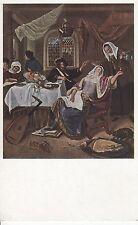 Postkarte - Jan Steen / Die lustig Familie