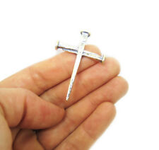 Cross of Nails Pendant Sterling Silver 925 Original Handmade Made in Jerusalem
