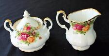 ROYAL ALBERT Bone China England OLD COUNTRY ROSE Set Creamer Sugar Bowl w Lid