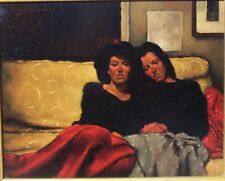 """Original oil painting by Joseph Lorusso """"Between Sisters"""" signed"""