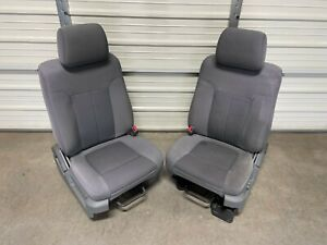 Ford F150 F-150 Gray cloth front Seats 2009 2010 2011 2012 2013 2014