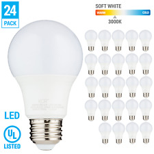 24 Pack LED A19 Bulb 9W 60W Equivalent Non Dimmable 3000K Soft White Medium E26
