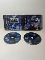 WWF Smackdown! 1 & 2 Playstation 1 CIB, Tested PS1 Game Lot, Black Label