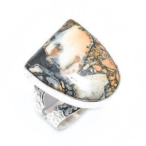 Maligano Jasper Gemstone 925 Sterling Silver Handmade Jewelry Ring Size 10 E536