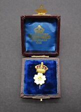 More details for beautiful vintage primrose league enamel pin badge - cased