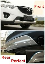 Front And Rear Bumper Skid Protector Plate Trim For Mazda CX-5 2012 013 2014 +