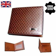 Genuine Leather Brown Men's Patterned Wallet Vintage Men Real Quality Gift