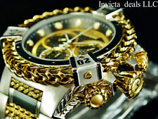 Invicta Men's 56mm Reserve BOLT HERCULES Swiss Chrono Silver & Gold Tone Watch