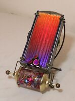 high quality signed hand blown art studio iridescent aurene glass kaleidoscope