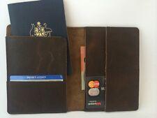 Leather Passport Holder Passport Wallet Mens Travel Wallet Credit Card QUALITY