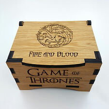 Game Of Thrones House Lannister Oak Box with hinged lid