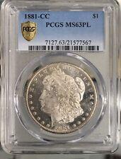 1881 cc $1 Morgan Silver Dollar PCGS MS 63 PL