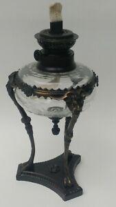 Bombay Company Oil Lamp Neo Classical Gargoyle Lion Paw Satyr No Chimney India