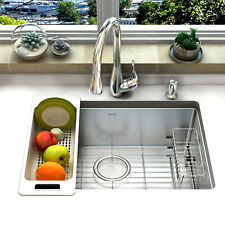 Zuhne Modena Single Bowl 16 Gauge Stainless Steel Undermount Kitchen Sink