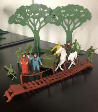 Planet of the Apes Multiple Toymakers 1331 Set Trees Earthmen Jeep Zira Zaius