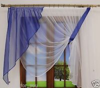 14 COLOURS READY MADE MODERN NET CURTAINS SMALL OR MEDIUM WINDOW AMAZING FOR YOU