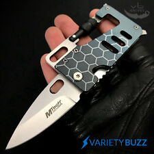 CREDIT CARD MULTI-TOOL Camping Hunting FOLDING KNIFE Wallet Thin Carabiner NEW