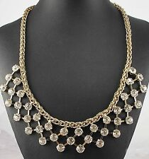chunky colorful collar Necklace 1056 Fashion pentand Crystal Bib Statement charm